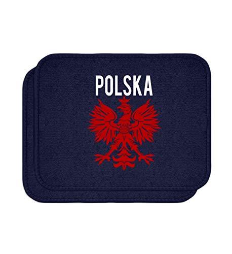Polska Poland Polen Wappen Flagge Fahne National Motiv - Schlichtes Und Witziges Design - Automatten