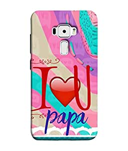 PrintVisa Designer Back Case Cover for Asus Zenfone 3 ZE552KL (5 Inches) (Lovely pink preety red cool blue father)