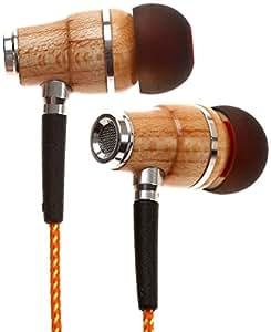 Symphonized NRG Wood In-Ear Noise-Isolating Headphones With Mic (Orange Stripe)