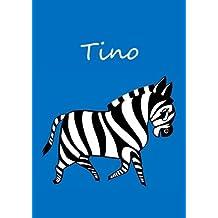 Tino: individualisiertes Malbuch / Notizbuch / Tagebuch - Zebra - A4 - blanko
