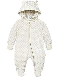 Baby Winter Fleece Overall mit Kapuze Schneeanzüge Mädchen Jungen Strampler Spielanzug Footed Jumpsuit