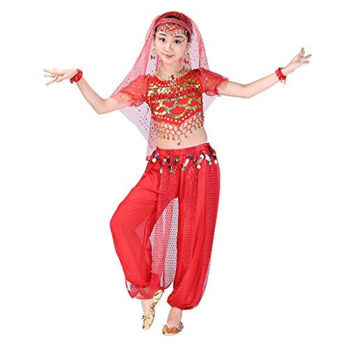 t Kleid Damen Sommer Elegant Baby Mädchen Outfits & Set,Handgemachte Kinder Mädchen Bauchtanz Kostüme Kinder Bauchtanz Ägypten Tanz Tuch ()