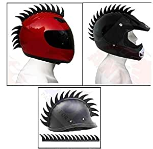 Andride Helmet Accessory Cuttable Rubber Mohawk/Spikes for All Motorcycles Dirt Bike and Normal Helmets (Black)