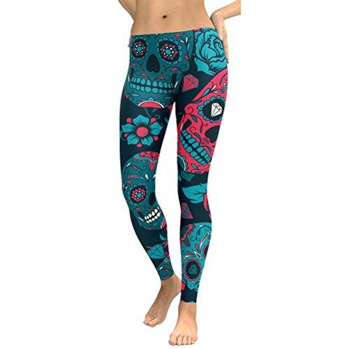 ❤️Leggings Femmes Pantalon de Yoga, Amlaiworld Pantalons Taille Haute Leggings Yoga Fitness Pantalons de Course Vêtements D'Entraînement Bleu