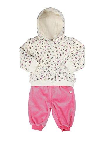 Kanz Baby - Mädchen Bekleidungsset Sweatjacke 1/1 Arm M. Kapuze + T-Shirt 1/1 Arm + Jogginghose, Gr. 80, Mehrfarbig (Allover Multicolored 0003)