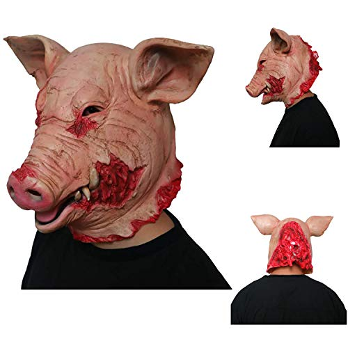 Kleine 3 Erwachsene Kostüm Schweine Für - JWTOY Halloween Latex Maske Horror Schwein Latex Vollmaske Cosplay Kostüm Maske Für Erwachsene Party Dekoration Requisiten