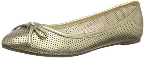 Buffalo London 213-3502 METALLIC SHEEP LEA Damen Geschlossene Ballerinas Gold (GOLD 01)