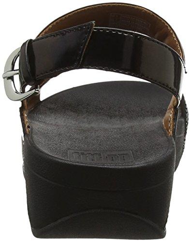 FitFlop Damen Ritzy Back-Strap Sandals Peeptoe Schwarz (Schwarz)