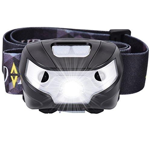LED Stirnlampe USB Wiederaufladbare Wasserdichte Induktions Kopflamp Taschenlampe 5 Modus Super Hell Taschenlampe für Wandern Laufen Camping Lesen Angeln Jagd (USB Kabel im Lieferumfang enthalten)
