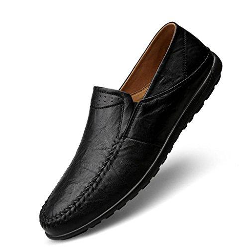 FADACAI Chaussures pour hommes Chaussures décontractées Chaussures de travail Chaussures habillées Chaussures de conduite Chaussures de chaussures paresseuses Black