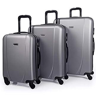 ITACA – Maletas de Viaje Rígidas 4 Ruedas Trolley ABS. Pequeña Cabina Mediana y Grande XL. Práctica Cómoda Ligera y Resistente. Calidad Marca y Diseño. Juego. Low Cost Ryanair.