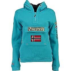 Geographical Norway Sudadera DE Hombre GYMCLASS A Turquesa M