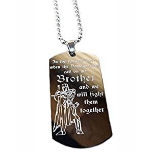 Real Bullet Design Dog-Tag In The Darkest Hour When The Demons Come, Call on me Brother and we Will Fight Them Together + GRATIS WUNSCHGRAVUR