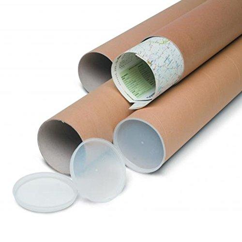 Versandrohr aus stabilem Karton Rohr 72x 7cm mit Kunststoff-Deckel aus PVC für Zeichnungen Folien (Zeichnung Kunststoff-rohr)