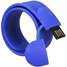 MAXINDA 16 GB Pendrive Pulsera 2.0 / Flash Driver/ Memoria USB Divertido Interesante Como un Regalo para su Amigos (16GB, Azul)
