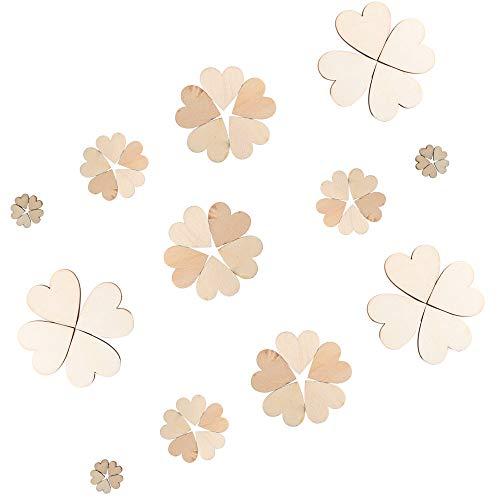 Etsamor 300pz cuore legno fette naturale sottile vuoto scrivibile incisa personalizzata per decorazione nozze matrimonio natale ornamento fai da te mestiere lavoretti artigianale arte 10/20/30/40mm