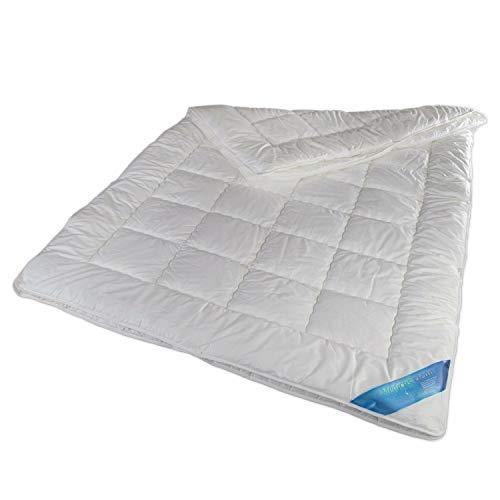 Schlafmond Medicus Clean Allergiker 4-Jahreszeitendecke, Bettdecke aus Baumwolle Kombi-Decke waschbar bis 95 Grad (135 x 200 cm) -