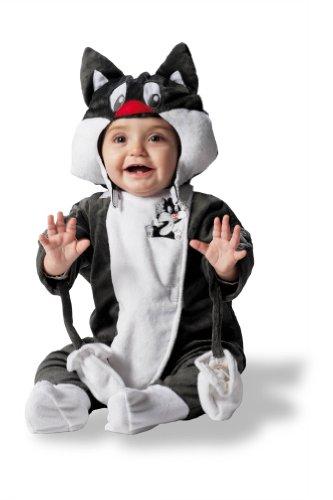 Joker d881-002 baby looney tunes gatto silvestro costume di carnevale, in busta, nero e bianco