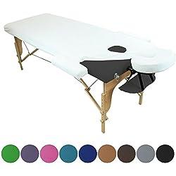 Linxor ® Sábana de protección 4 partes en esponja para mesa de masaje - 9 colores - Norma CE