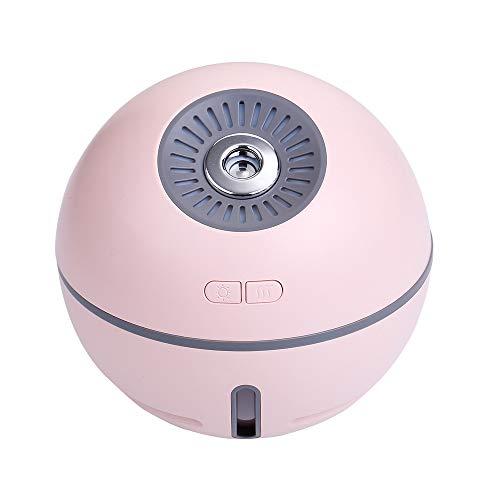 TXDY Mini umidificatore USB, 300ml Diffusore ultrasonico con Ventola di Raffreddamento Personale Umidificatore Batteria Ricaricabile Ventola di Raffreddamento con nebulizzatore Portatile,Pink