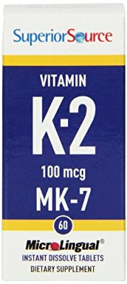 Superior Source Vitamin K2 100mcg MK-7 (100mcg, 60 MicroLingual® Instant Dissolve Tablets) from Superior Source
