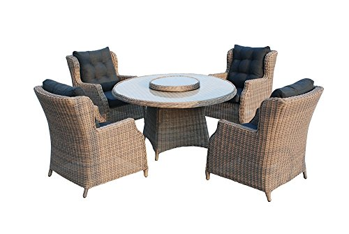 Gartenmöbel Set Chesterfield Polyrattan