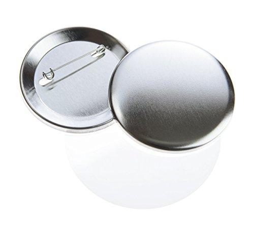 Buttonrohlinge 56mm (200 Stück) mit Sicherheitsnadel für USA Buttonmaschine - Alle Komponenten 200 Pin