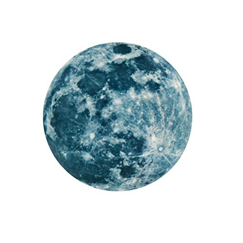 HLYMNB 3D großer Mond fluoreszierender Wandaufkleber entfernbarer im Dunkeln leuchten Aufkleber (Leuchten Dot Polka)