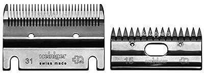 Heiniger Standard Blade Set For Heiniger Clippers Bottom Blade 31 Tooth Top Blade 15 by HEINIGER