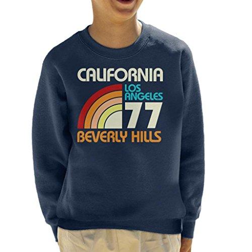 Coto7 California Los Angeles Beverly Hills Retro Kid's Sweatshirt