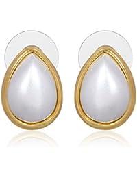 Aventus Pearl Stud Earrings For Women & Girls