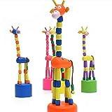 #2: Dancing Giraffe Wooden Toy (3-6 Years) : Birthday Return Gifts (Pack of 4)