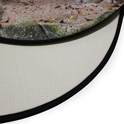XiangHeFu Teppiche runder Durchmesser 92 cm / 36,2 Zoll Fußmatten große gestreifte Tiger weichen Teppich personalisierte Matte für Küche Wohnzimmer Esszimmer Schlafzimmer dekorativ