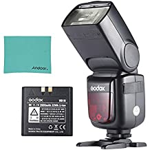 Godox V860II-C E-TTL 1/8000S HSS Maestro Esclavo GN60 Flash Incorporada 2.4G Sistema X con 2000mAh Recargable Li-ion Batería para Canon 1DX/5D Mark III/5D Mark II/6D/7D/60D/50D/40D/30D/650D/600D