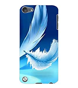 ColourCraft Beautiful Feather Design Back Case Cover for APPLE IPOD TOUCH 5