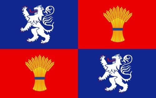 Preisvergleich Produktbild Flagge Gascogne | French province of Gascogne | Armorié de Gascogne | Las armas de Gasconha | Querformat Fahne | 0.06qm | 20x30cm für Diplomat-Flags Autofahnen