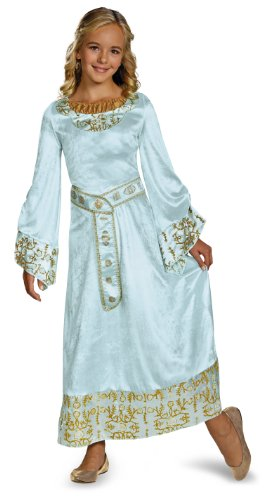 Disguise Disney Maleficent Movie Aurora Girls Blue Dress Deluxe Costume, Small/4-6x (Halloween-party - Maleficent Disney)