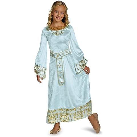Disfraz Disney Maléfica Película Aurora Niñas azul Deluxe–Vestido para mujer