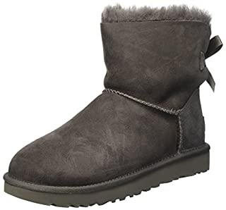 UGG Mini Bailey Bow, De Mouton Pluie Bottes Femme, Gris (Grigio), 38 EU (B01E96YFC4) | Amazon price tracker / tracking, Amazon price history charts, Amazon price watches, Amazon price drop alerts
