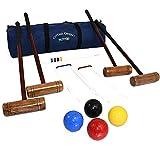 Cottage Croquet Set - 4 Player Adult Croquet Set In A Storage Bag