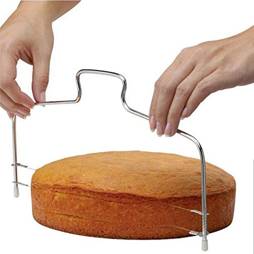 Oplon Edelstahl Einstellbare Doppel Draht Kuchen Cutter Slicer Backen Zubehör Ausstechformen