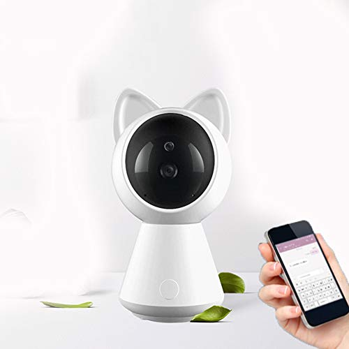 DZSF Cute Baby Monitor Online Nachtsicht 2-Wege-Talk Cat Shape Monitor Video Kindermädchen Radio Babysitter IP WiFi Kamera