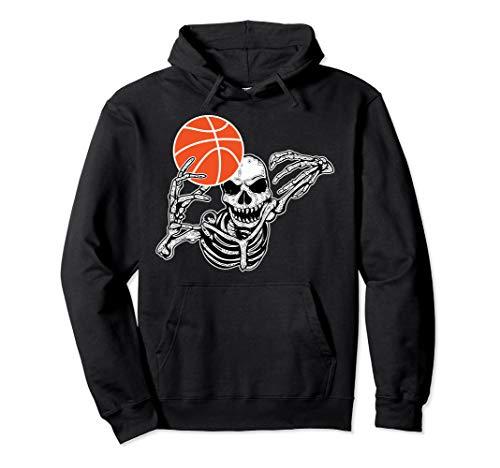 Halloween-Skelett-Basketball-Spieler-Schädel übergibt Party Pullover (Basketball Spieler Kostüm Für Jungen)