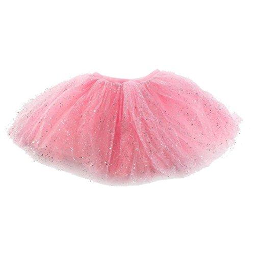 Baby Kleid Kolylong Baby Mädchen Pailletten Tanzen Ballett Tutu Röcke (Rosa)