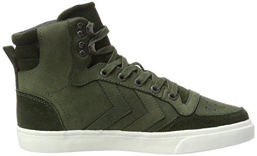 hummel Stadil Winter, Sneakers Hautes Mixte Adulte Vert (Rosin)