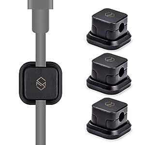 SINJIMORU Attache-Câble Magnétique, Range-Câble, Organisateur de Câble, Support Câble à