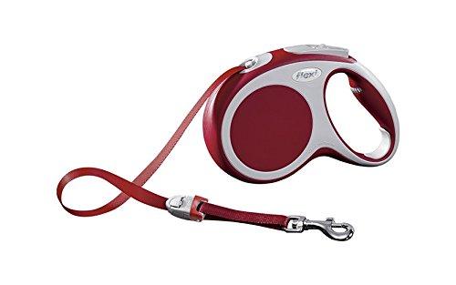 flexi Roll-Leine Vario M Gurt 5 m rot für Hunde bis max. 25 kg -