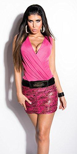 Sexy KouCla Minikleid transparent mit LeoPrint Koucla by InStylefashion SKU  0000K236501 Pink