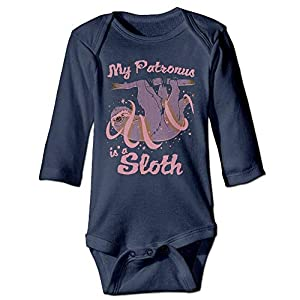 SDGSS Ropa para bebés Bodysuits Unisex Cotton Long Sleeve My Patronus is A Sloth Newborn Baby Girls' Boys' One-Piece… 9
