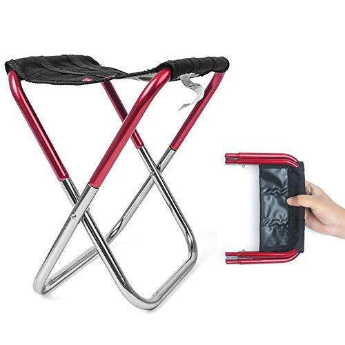Chaise Pliante d'extérieur Pliable en Alliage d'aluminium Oxford en Tissu léger Robuste et Pliable pour Le Camping, Les Voyages, la pêche, Le Jardin, Les barbecues Rouge